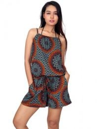 Hippie Clothing Outlet - Ethnic Printed Short Jumpsuit [PASN01] to buy wholesale or detail in the Alternative Ethnic Hippie Outlet category.