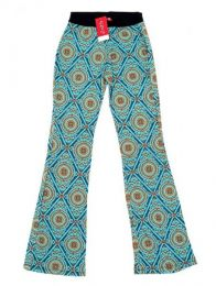 Pantalón de pata amplia Mod Azul