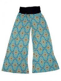 Pantalón amplio hippie Mod Azul