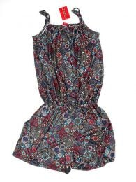 Printed short jumpsuit Mandalas PASN13 to buy in bulk or in detail in the Alternative Ethnic Hippie Costume category.