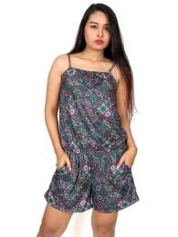 Hippie Harem Pants - Mandalas printed short jumpsuit [PASN13] to buy wholesale or detail in the Hippie Clothing for Women category.