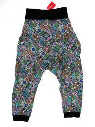 Pantalones Hippie Harem Boho - Pantalón hippie tipo PASN18 - Modelo Azul