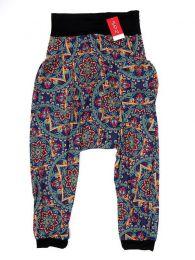 Pantalones Hippie Harem - Pantalón hippie tipo PASN19 - Modelo Azul