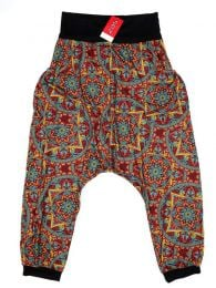 Pantalones Hippie Harem - Pantalón hippie tipo PASN19 - Modelo Rojo