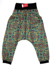 Pantalones Hippie Harem Boho - Pantalón hippie tipo PASN19 - Modelo Verde