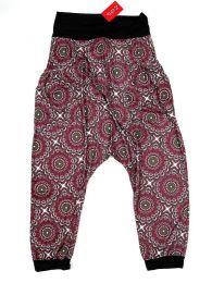 Pantalones Hippies Harem Boho - Pantalón hippie tipo PASN21 - Modelo Rojo