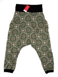 Pantalones Hippies Harem Boho - Pantalón hippie tipo PASN21 - Modelo Verde