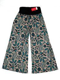 Pantalones Hippies Harem Boho - Pantalón de pata amplia PASN27 - Modelo Marrón