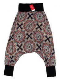 Hippie trousers printed with large mandalas PASN28 to buy in bulk or in detail in the Alternative Ethnic Hippie Costume category.