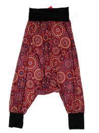 Pantalones Hippies Harem Boho - Pantalón hippie tipo PASN29 - Modelo Rojo