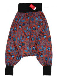 Pantalones Hippie Harem - Pantalón hippie tipo PASN30 - Modelo Rojo