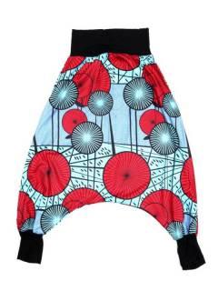 Pantalones Hippies Harem Yoga - Pantalón hippie tipo PASN34 - Modelo Azul