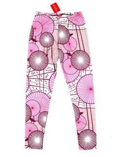 Pantalones Hippies Harem Yoga - Pantalón hippie tipo PASN35 - Modelo Rosa