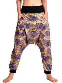 Pantaloni hippie stampati etnici, da acquistare all'ingrosso o dettaglio nella categoria di Abbigliamento Hippie da donna | Negozio alternativo ZAS. [PASN36]