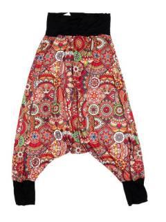 Pantalones Hippies Harem Yoga - Pantalón hippie tipo PASN38 - Modelo Rojo