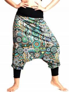Pantalon hippie imprimé Ethnico PASN38 pour acheter en gros ou détail dans la catégorie Vêtements Hippie Femme | Magasin alternatif ZAS.