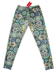 Pantalones Hippies Harem Yoga - Pantalón hippie tipo PASN39 - Modelo Verde
