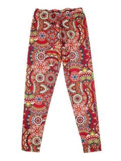 Pantalones Hippies Harem Yoga - Pantalón hippie tipo PASN39 - Modelo Rojo