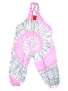 Monos y Petos / Vestidos largos - Peto largo Tie dye muy confortable PATO01 - Modelo Rosa
