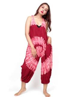 Long tie dye spiral jumpsuit [PATO01]. Jumpsuits and Overalls / Long dresses to buy wholesale or detail in the category of Women's Hippie Clothing | ZAS Alternative Store.