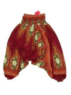 Pantalones Hippies Harem Yoga - Pantalón hippie ancho PAVA04 - Modelo Rojo