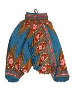 Pantalones Hippies Harem Yoga - Pantalón hippie ancho PAVA04 - Modelo Azul