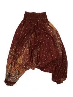 Pantalones Hippies Harem Yoga - Pantalón hippie ancho PAVA05 - Modelo Marrón
