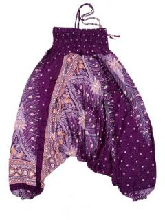 Pantalones Hippies Harem Yoga - Pantalón hippie ancho PAVA05 - Modelo Morado