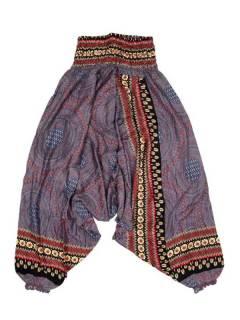 Pantalones Hippie Harem - Pantalón hippie ancho PAVA05 - Modelo Morado
