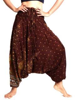 Pantalón Aladin estampado Etnico, para comprar al por mayor o detalle  en la categoría de Outlet Hippie Etnico Alternativo | ZAS Tienda Hippie.[PAVA05]
