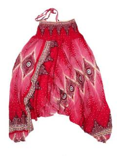 Pantalones Hippies Harem Yoga - Pantalón hippie ancho PAVA06 - Modelo Rojo