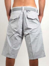 Outlet Ropa Hippie - pantalón rayas corto PAWO01.