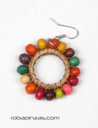Pendientes redondos de bolitas Mod Multicolor