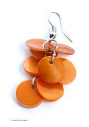 Pendientes circulos , nacar Mod Naranja