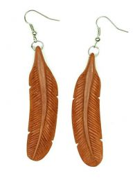 Indian Feather Earrings Bone PEMD31 para comprar atacado ou detalhe na categoria de Jóias Hippie Étnicas Alternativas e Prata | ZAS Online Store.