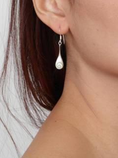 Ojo de Shiva - Plata - Pendientes fabricados en plata PEOJ03.