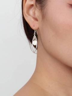 Ojo de Shiva - Plata - Pendientes fabricados en plata PEOJ05.