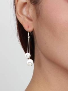 Ojo de Shiva - Plata - Pendientes fabricados en plata PEOJ08.