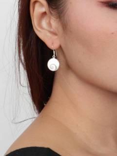 Ojo de Shiva - Plata - Pendientes fabricados en plata PEOJ11.