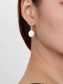 Ojo de Shiva - Plata - Pendientes fabricados en plata PEOJ12.