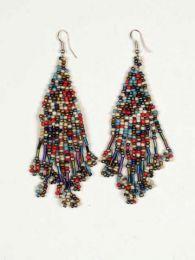 Pendientes hippies largos Mod Multicolor