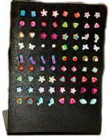 Boucles d'oreilles à fermeture en silicone motifs variés, à acheter en gros ou en détail dans la catégorie Accessoires de mode Bohemian Hippie | ZAS. [PEUV]
