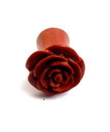 Plug rosa tallado en madera detalle del producto