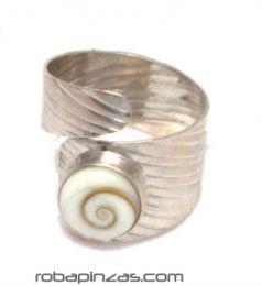 ZAS robapinzas.com | Anillo plata ojo de shiva, regulable a todas las tallas
