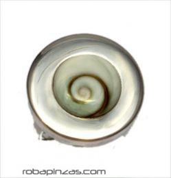 ZAS robapinzas.com | Anillo plata redondo, ojo de shiva y plata, regulable a todas las tallas