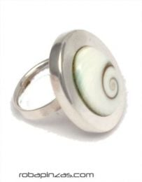 Ring in silver and eye of shiva, adjustable size to all, to buy wholesale or detail in the category of Bohemian Hippie Fashion Accessories | ZAS. [PLANOJ7]