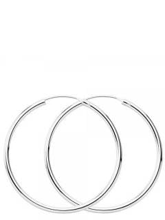 Silver Hoops and Earrings - 40mm sterling silver hoops [PLAR40] to buy in bulk or in detail in the category of Alternative Ethnic Hippie Jewelery.