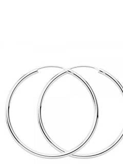 Silver Hoops and Earrings - 50mm sterling silver hoops [PLAR50] to buy in bulk or in detail in the category of Alternative Ethnic Hippie Jewelery.