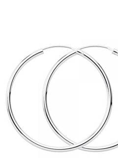 Silver Hoops and Earrings - 75mm sterling silver hoops [PLAR75] to buy in bulk or in detail in the category of Alternative Ethnic Hippie Jewelery.