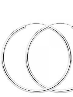Silver Hoops and Earrings - 90mm sterling silver hoops [PLAR90] to buy in bulk or in detail in the category of Alternative Ethnic Hippie Jewelery.